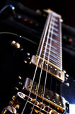 Epiphone Les Paul Guitar. A customized Epiphone Les Paul guitar Stock Photo