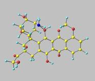 Epirubicin molecule isolated on grey Royalty Free Stock Images