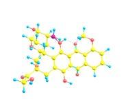 Epirubicin molecule  on white Royalty Free Stock Photo