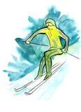 Episódio do esqui Imagem de Stock Royalty Free