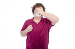 episódios Homem gordo Despido e vestido Foto de Stock Royalty Free