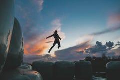 Episch zonsondergangportret Royalty-vrije Stock Afbeelding