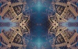 Epische abstracte fantastische affiche of achtergrond Futuristische mening van binnenuit van fractal Patroon in vorm van pijlen Stock Afbeelding