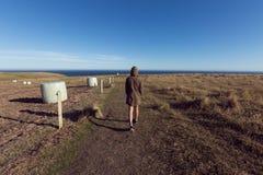 Epische Landschaft mit kleinen Leuten Lizenzfreies Stockfoto