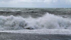 Epische Wellen in Island stock video