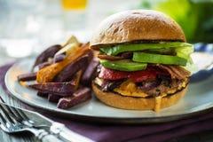 Epischer Burger Stockfoto