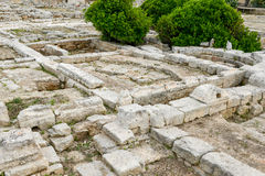 The episcopal Basilica of the ancient Roman ruins in Egnazia Royalty Free Stock Photography