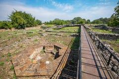 Episcopal Basilica. Archaeological Park of Dion, Greece Stock Photo