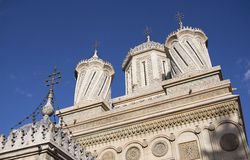 Episcopal church Curtea de Arges Royalty Free Stock Photo