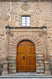 Episcopal pałac średniowieczny miasto Caceres, Extremadura, Hiszpania Obraz Stock