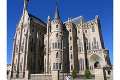 Episcopal Palace in Astorga. The Episcopal Palace from Gaudi in Astorga, Spain Royalty Free Stock Image