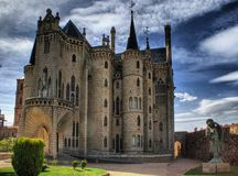 Episcopal Palace in Astorga Stock Photo