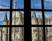 Castle of Astorga in Spain stock image