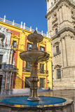 Episcopal Palace and Catherdral Malaga Stock Photo