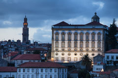 Episcopal Palace at Dusk in Porto Royalty Free Stock Image