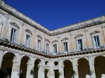 The episcopal palace in Lecce in Italy Stock Photography