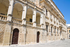 Episcopal palace. Lecce. Puglia. Italy. Royalty Free Stock Photos