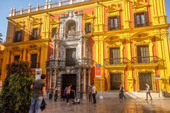 Episcopal Palace in Malaga, Andalusia, Spain Royalty Free Stock Image