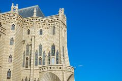 Episcopal Palace profile view in Astorga, Spain Stock Photo