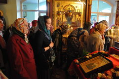 Episcopal service in the Orthodox Church in the city of Gomel. Bishop Stephen Royalty Free Stock Images