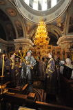 Episcopal service in the Orthodox Church in the city of Gomel. Bishop Stephen. Stock Photography