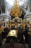 Episcopal service in the Orthodox Church in the city of Gomel. Bishop Stephen. Royalty Free Stock Photography