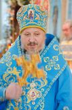 Episcopal service in the Orthodox Church in the city of Gomel. Bishop Stephen. Stock Photos