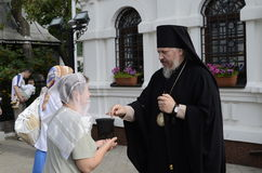 Episcopal service in the Orthodox Church in the city of Gomel Royalty Free Stock Images