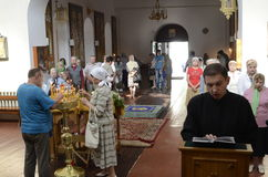 Episcopal service in the Orthodox Church in the city of Gomel Stock Images