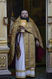 Episcopal service in the Orthodox Church in the city of Gomel Royalty Free Stock Photos