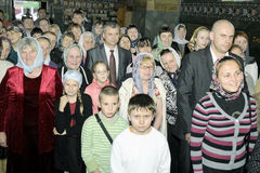 Episcopal service in the Orthodox Church in the city of Gomel Stock Photography