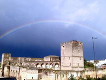 Episcopio Castle after heavy rain Stock Photography