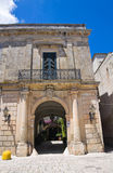 Episcopo palace. Poggiardo. Puglia. Italy. Royalty Free Stock Photos