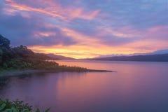 Episk solnedgång arkivfoto