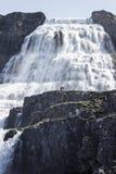 Episk vattenfall Dynjandi Royaltyfri Bild