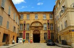Episkopaler Palast, Aix-en-Provence, Frankreich Lizenzfreie Stockbilder