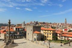 Episkopaler Palast in Porto, Portugal Ansicht der Stadt Porto Lizenzfreie Stockfotografie
