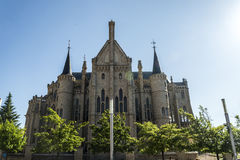 Episkopaler Palast von Astorga durch Gaudi Stockfotos