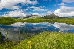 Episkt landskap nära Aiguillette des Houches royaltyfria bilder