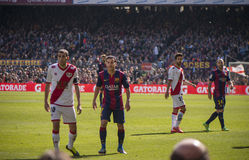 Episode from FC Barcelona match Royalty Free Stock Images