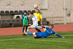 Episode of football match Royalty Free Stock Photography
