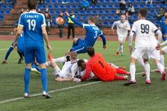 Episode of football match Stock Photo