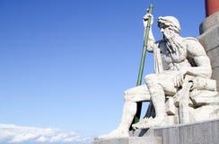Episode van de Rostral kolom in St. Petersburg Royalty-vrije Stock Foto