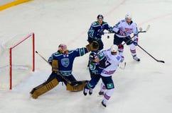 Episodenhockeymatch Stockbild