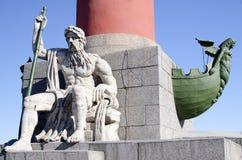 Episodio de la columna rostral en St Petersburg Imagen de archivo libre de regalías