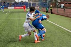 Episodio del partido de fútbol Foto de archivo libre de regalías