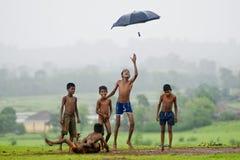 Episodio maníaco de la monzón Imagen de archivo