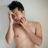 Episodio maníaco del hombre joven Foto de archivo