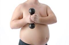 episodios Hombre gordo Desnudo y vestido Imagen de archivo libre de regalías