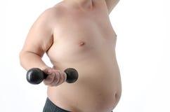 episodios Hombre gordo Desnudo y vestido Foto de archivo